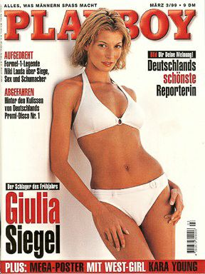 Giulia Siegel - Playboy Magazine Cover [Germany] (March 1999)