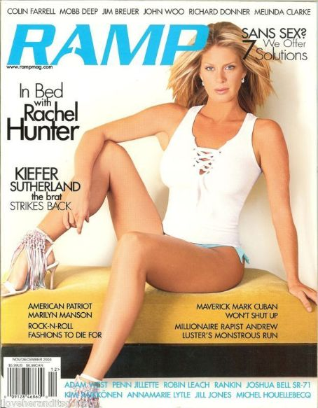 Rachel Hunter - RAMP Magazine Cover [Australia] (November 2003)