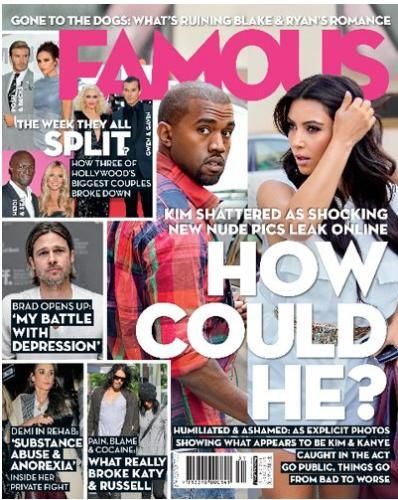 Kim Kardashian, Kanye West - Famous Magazine Cover [Australia] (31 January 2012)