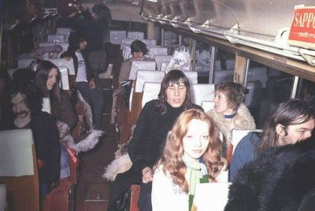 Nick Mason,Juliette Gale,Roger Waters,Judy Trim,Ginger and David Gilmour