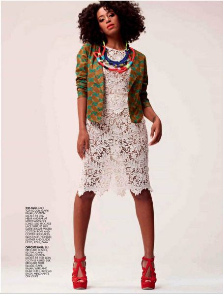 Dancer Solange Knowles Elle South Africa November 2012