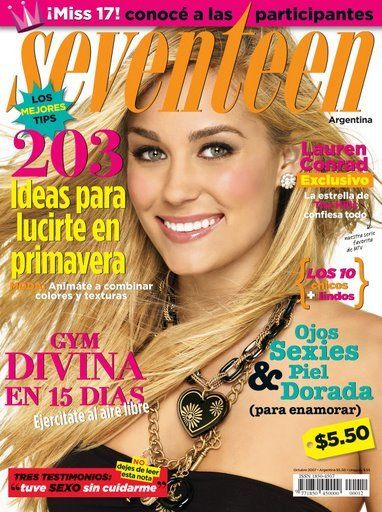 Lauren Conrad - Seventeen Magazine Cover [Argentina] (October 2007)