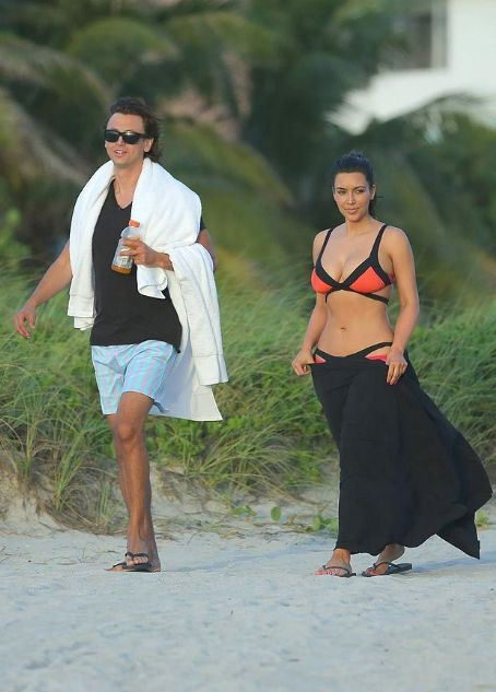 Kim Kardashian in a bikini in Miami Beach