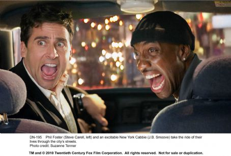 J.B. Smoove Phil Foster (Steve Carell, left) and an excitable New York Cabbie () take the ride of their lives through the city's streets. Photo credit: Suzanne Tenner. TM and © 2010 Twentieth Century Fox Film Corporation. All rights reserved. Not for s