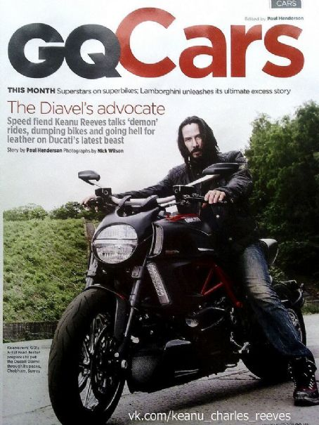 Keanu Reeves - Gq Cars Magazine Cover [United States] (November 2011)