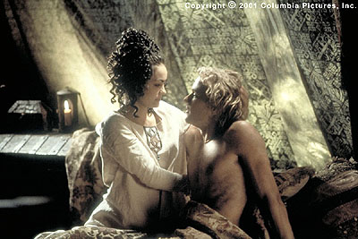 A Knight's Tale Jocelyn (Shannyn Sossamon) surprises her brave but battered knight (Heath Ledger) with a secret rendez-vous in the Columbia Pictures presentation, A Knight's Tale - 2001