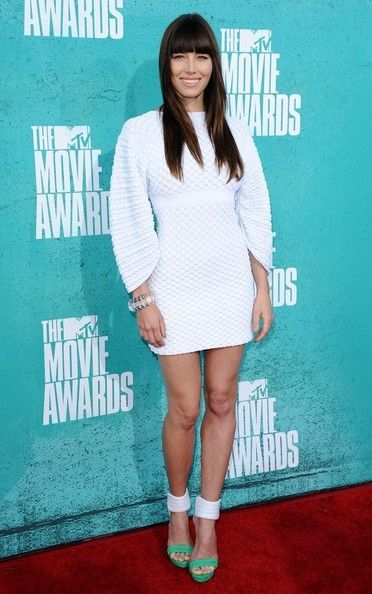 Jessica Biel - Jessia Biel arrives at the 2012 MTV Movie Awards held at Gibson Amphitheatre on June 3, 2012 in Universal City, California