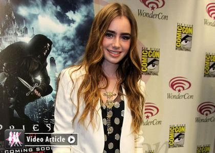 "Lily Collins Talks Simon Casting for ""Priest"""