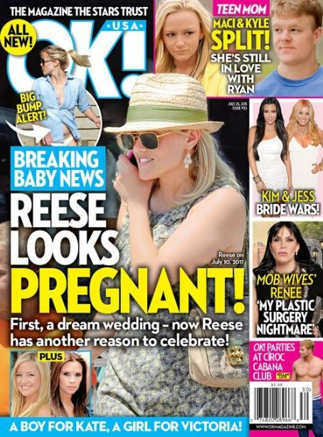 Reese Witherspoon - OK! Magazine Cover [United States] (13 July 2011)