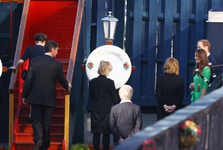 Prince William Windsor - Prince William and wife Kate board the Royal Yacht Brittania on Friday (July 29) in Edinburgh, Scotland