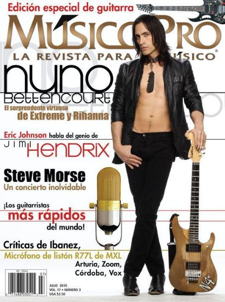 Nuno Bettencourt - Music Magazine Cover [Spain] (July 2010)