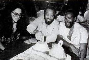 Janis Hunter Jan,Berry Gordy & Marvin at his 40th Birthday Party in 1979