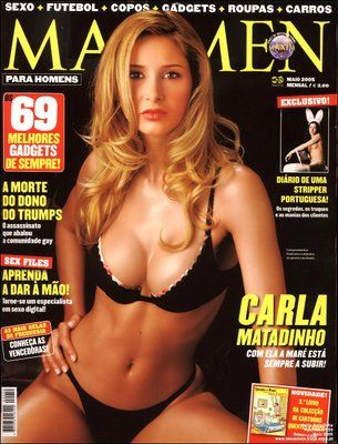 Carla Matadinho - Maxmen Magazine Cover [Portugal] (May 2005)