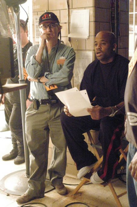 Damon Dash and cinematographer Tom Houghton on the set of State Property 2. Photo credit: Dominick Conde
