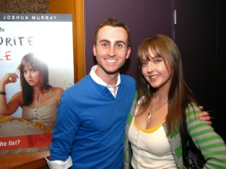 Katharine Isabelle  with brother Joshua Murray