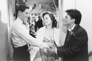 Back to the Future Michael J. Fox, Crispin Glover and Lea Thompson in Back to The Future (1985)