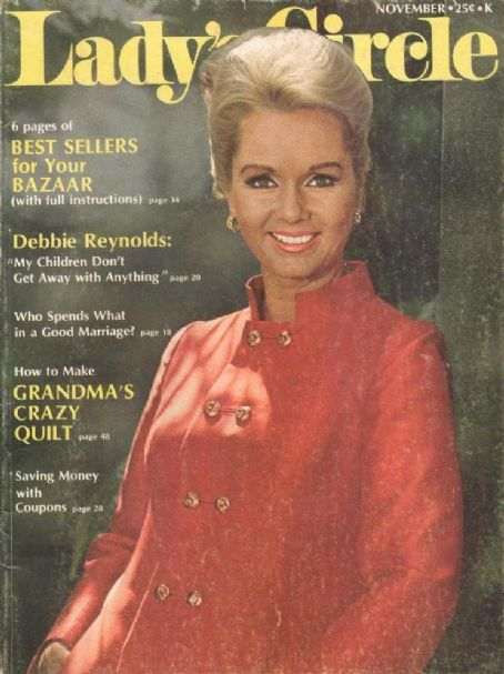 Debbie Reynolds - Lady's Circle Magazine Cover [United States] (November 1969)