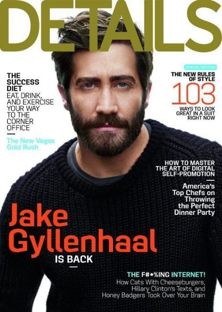 Jake Gyllenhaal - Details Magazine Cover [United States] (September 2012)