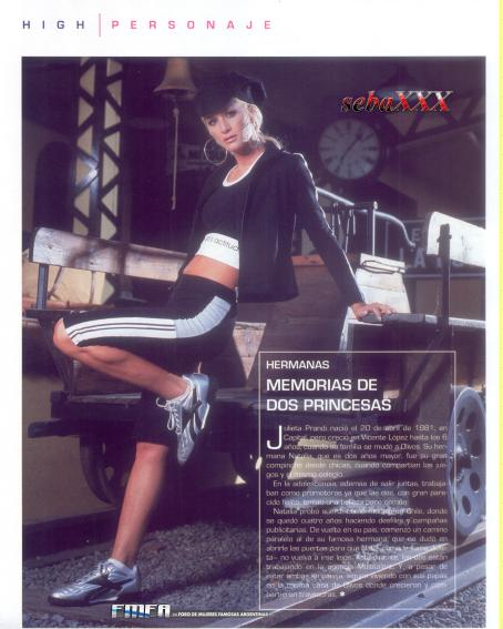 Julieta Prandi  - High Class Magazine July 2006
