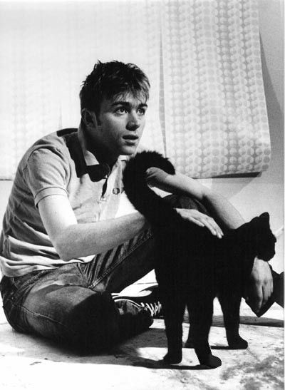 Damon Albarn and black cat