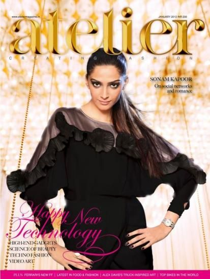 Sonam Kapoor - Atelier Magazine Cover [India] (January 2012)