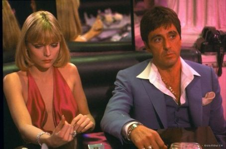 Tony Montana Michelle Pfeiffer and Al Pacino