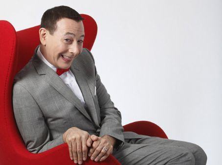Paul Reubens Big red chair