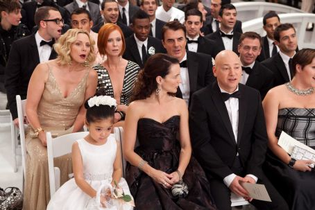 Mr. Big (Clockwise from top left) KIM CATTRALL as Samantha Jones, CYNTHIA NIXON as Miranda Hobbes, CHRIS NOTH as , DAVID EIGENBERG as Steve Brady, EVAN HANDLER as Harry Goldenblatt, KRISTIN DAVIS as Charlotte York and ALEXANDRA FONG as Lily, Charlotte'