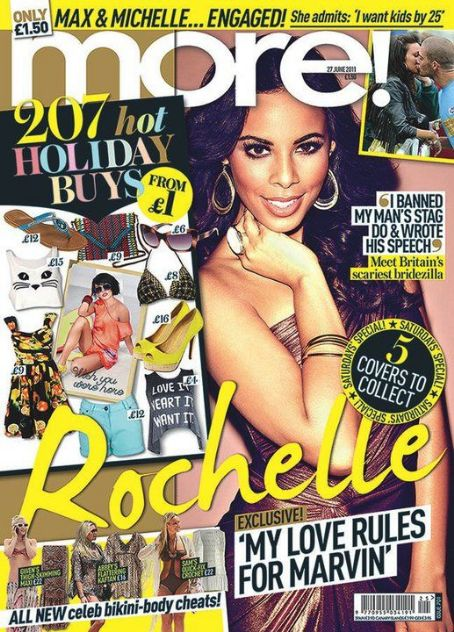 Rochelle Humes - The Saturdays on More! Magazine Cover