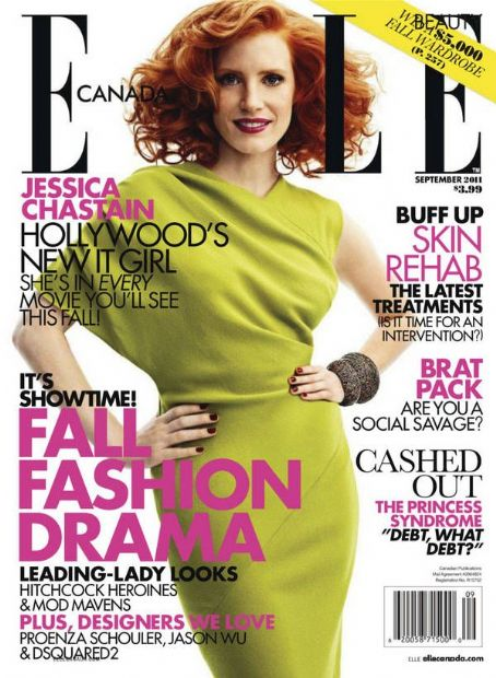 Jessica Chastain  Elle Canada September 2011