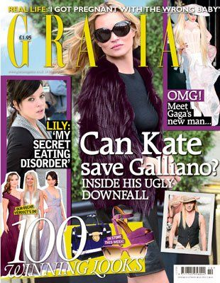 Kate Moss - Grazia Magazine Cover [United Kingdom] (8 March 2011)