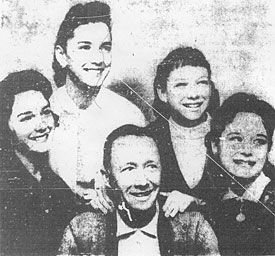 The Lennon Sisters  with Dad