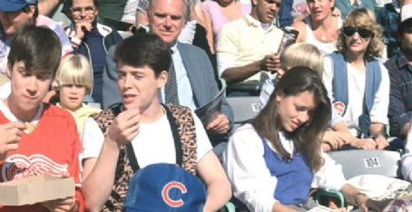 Mia Sara Matthew Broderick, Alan Ruck and  in Ferris Bueller's Day Off (1986)