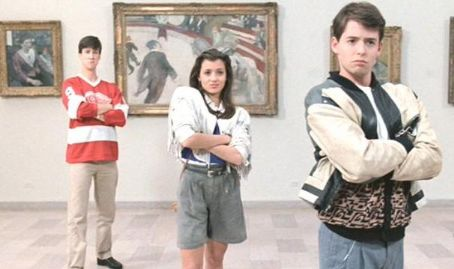 Alan Ruck Matthew Broderick,  and Mia Sara in Ferris Bueller's Day Off (1986)