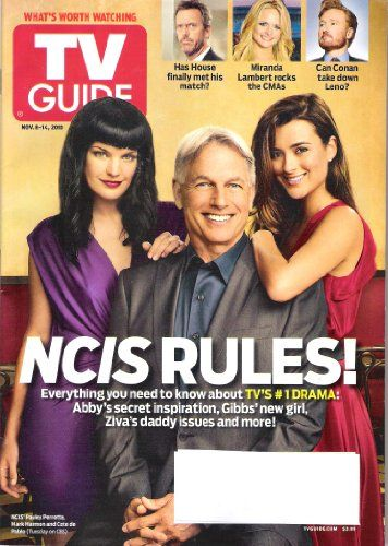 Pauley Perrette, Cote de Pablo, Mark Harmon - TV Guide Magazine Cover [United States] (8 November 2010)