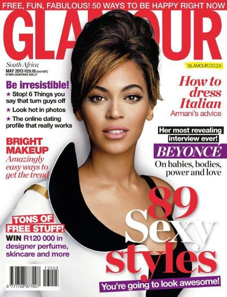 Beyoncé Knowles - Glamour Magazine Cover [South Africa] (May 2013)