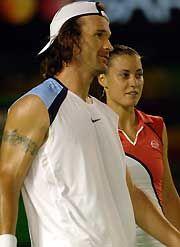 Carlos Moyá Carlos Moya and Flavia Pennetta