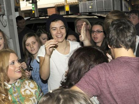 Harry Styles - The boys of One Direction received quite the welcome today, April 24, as they landed in London