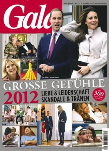 Kate Middleton, Beyoncé Knowles - Gala Magazine Cover [Germany] (20 December 2012)
