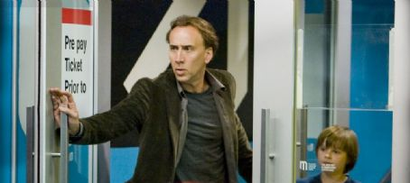 Chandler Canterbury Nicolas Cage as John Koestler and  as Caleb Koestler in Knowing.