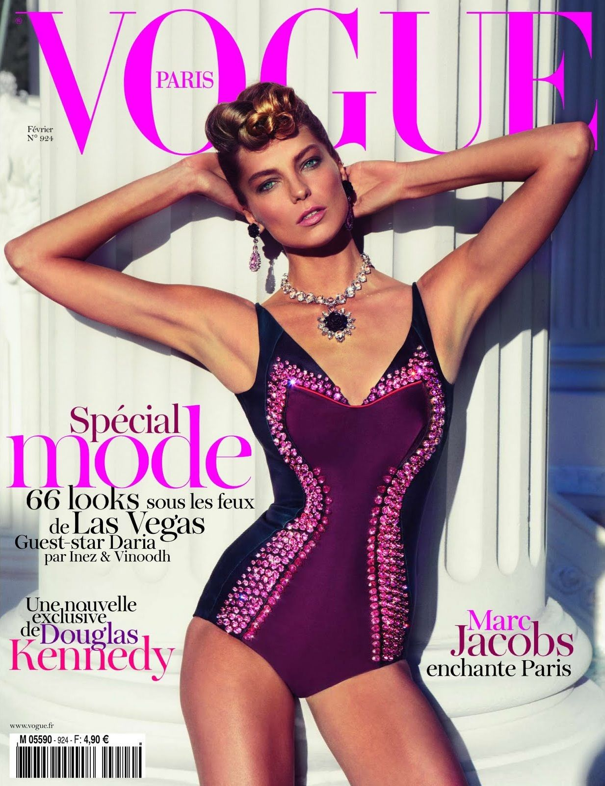 Daria Werbowy - Vogue Magazine Cover [France] (February 2012)