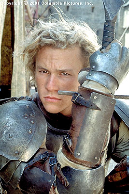 A Knight's Tale - Gallant squires like William Thatcher (Heath Ledger) race toward each other in tests of nerve and skill and become the sports superstars of their time in Columbia's A Knight's Tale - 2001