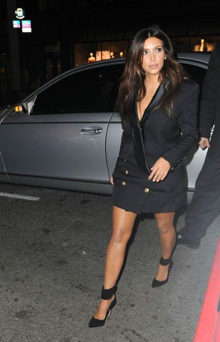 Kim Kardashian seen leaving her hotel to attend the 2012 Mercedes Benz Fashion Week in New York City, New York on September 13, 2012