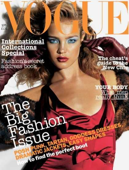 Natalia Vodianova - Vogue Magazine [United Kingdom] (September 2003)
