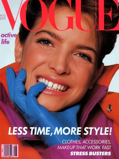 Stephanie Seymour - Vogue Magazine [United States] (August 1988)