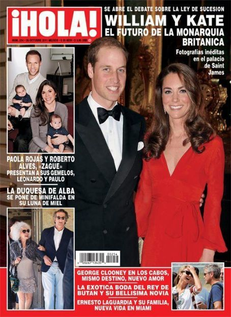 Kate Middleton - Hola! Magazine Cover [Mexico] (26 October 2011)