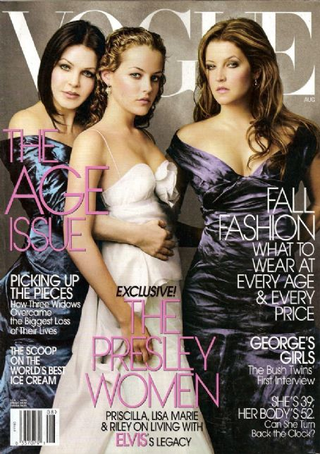 Priscilla Presley - Vogue Magazine [United States] (August 2004)