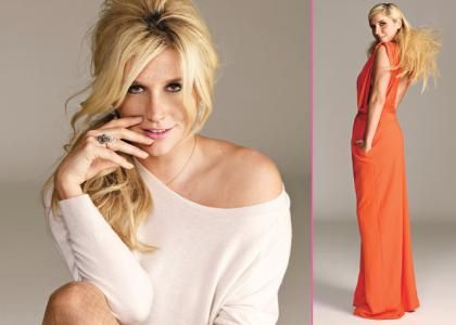Ke$ha Gets a Make-Under for Glamour March 2012