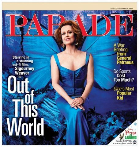 Sigourney Weaver - Parade Magazine Cover [United States] (29 November 2009)