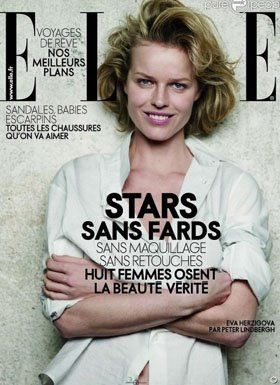 Eva Herzigova - Elle Magazine [France] (April 2009)